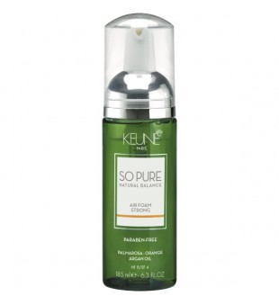 Keune SO PURE Stiprios fiksacijos plaukų putos - Air Forming Strong, 185ml | inbeauty.lt