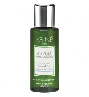 Keune SO PURE COOLING Šampūnas su vėsinančiu efektu, 50ml | inbeauty.lt