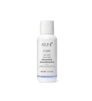 Keune Care Line SILVER SAVIOR Šampūnas sidabriniams atspalviams puoselėti, 80 ml | inbeauty.lt