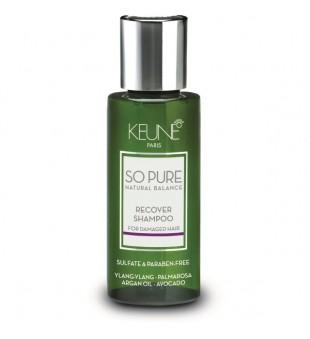 Keune SO PURE RECOVER Šampūnas pažeistiems plaukams, 50 ml | inbeauty.lt