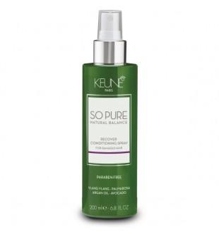 Keune SO PURE RECOVER Purškiamas kondicionierius pažeistiems plaukams, 200 ml | inbeauty.lt