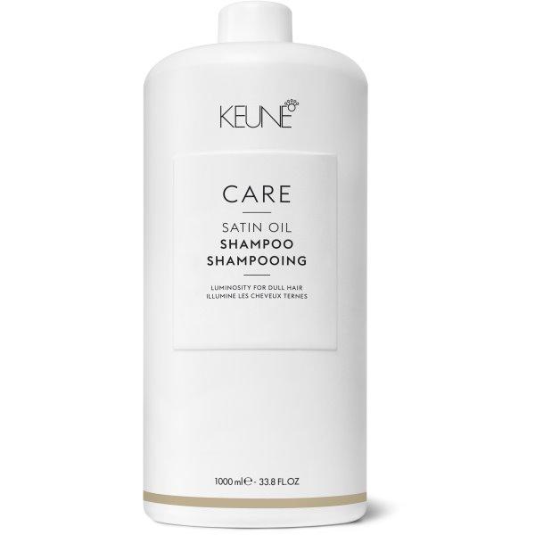 Care Line SATIN OIL Šampūnas sausiems, pažeistiems plaukams, 1000 ml
