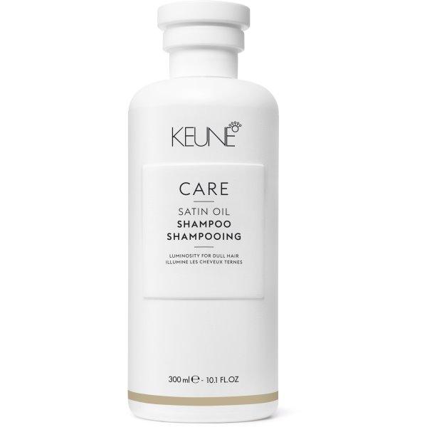 Care Line SATIN OIL Šampūnas sausiems, pažeistiems plaukams, 300 ml