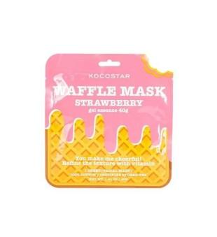 Kocostar Waffle Mask Strawberry Gaivinamoji lakštinė veido kaukė, 1 vnt.   inbeauty.lt