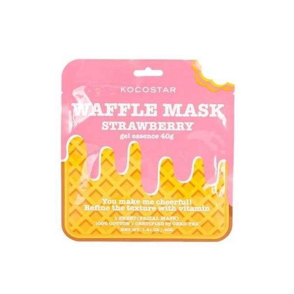 Waffle Mask Strawberry Gaivinamoji lakštinė veido kaukė, 1 vnt.