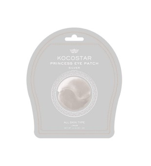 Kocostar  Princess Eye Patch (silver) Drėkinamoji paakių kaukė, 1 pora | inbeauty.lt