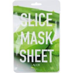 Aloe Slice Mask Sheet Raminanti bei drėkinanti lakštinė kaukė su alijošiumi, 2 lakštai