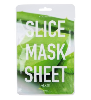 Kocostar Aloe Slice Mask Sheet Raminanti bei drėkinanti lakštinė kaukė su alijošiumi, 2 lakštai | inbeauty.lt