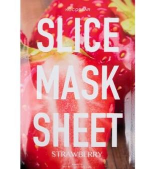 Kocostar Strawberry Slice Mask Sheet Spindesio suteikianti lakštinė kaukė su braškėmis, 2 lakštai | inbeauty.lt