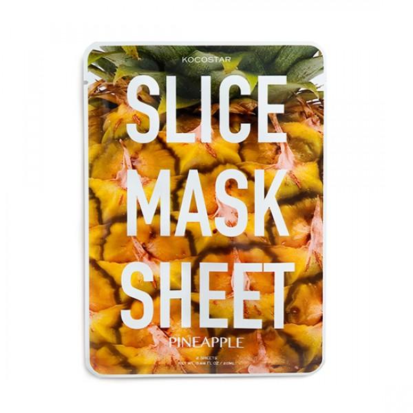 Pineapple Slice Mask Sheet Elastingumo suteikianti lakštinė kaukė su ananasu, 2 lakštai