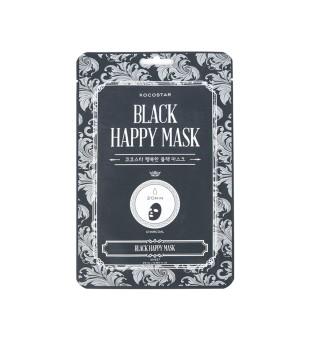 Kocostar Black Happy Mask Valomoji lakštinė kaukė su anglimi, 1 vnt. | inbeauty.lt
