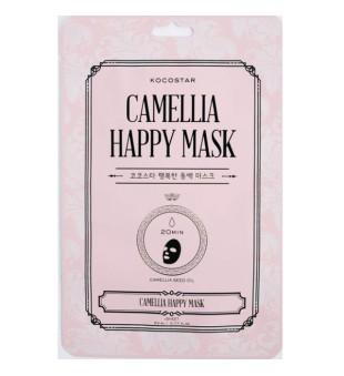 Kocostar Camellia Happy Mask Lakšto Kaukė su kamelijomis, 1 lakštas | inbeauty.lt