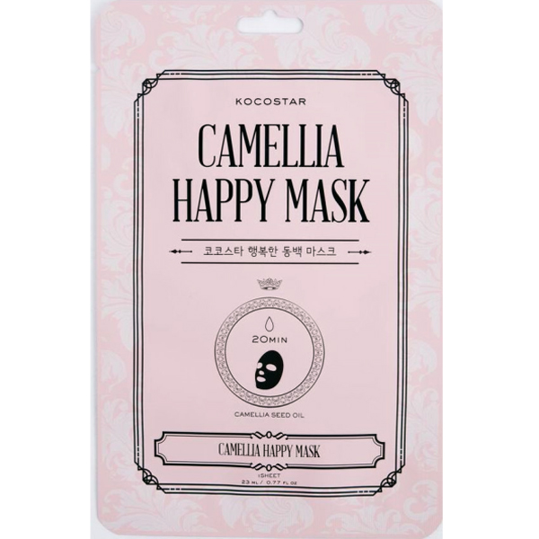 Camellia Happy Mask Lakšto Kaukė su kamelijomis, 1 lakštas