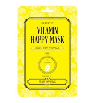 Kocostar Vitamin Happy Mask Lakštinė veido kaukė su vitaminu C, 1vnt | inbeauty.lt