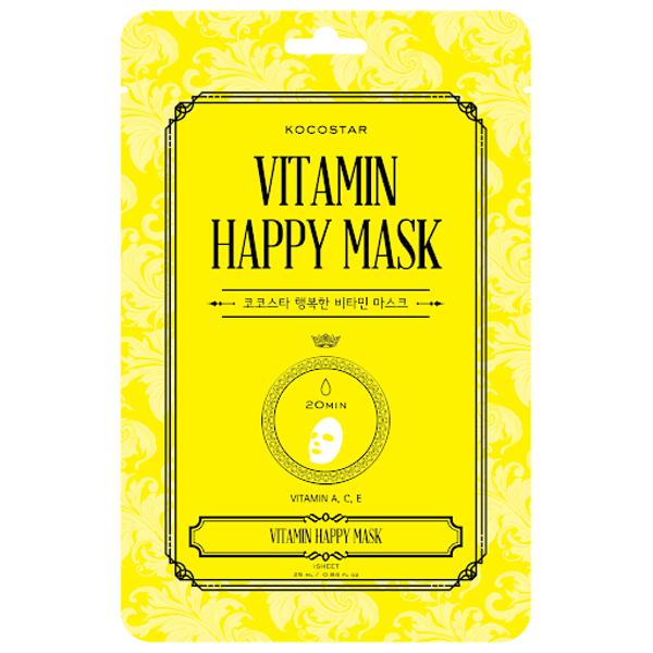 Vitamin Happy Mask Lakštinė veido kaukė su vitaminu C, 1vnt