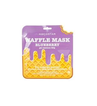Kocostar Waffle Mask Blueberry Lakštinė veido kaukė su antioksidantais, 1vnt   inbeauty.lt