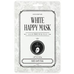 White Happy Mask Skaistinamoji lakštinė veido kaukė, 1 vnt.