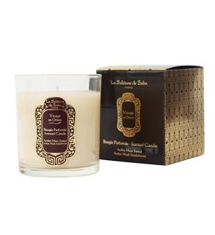 La Sultane de Saba Amber Musk Scented Candle Gintaro ir saltamedžio aromato kvapnioji žvakė, 300g | inbeauty.lt