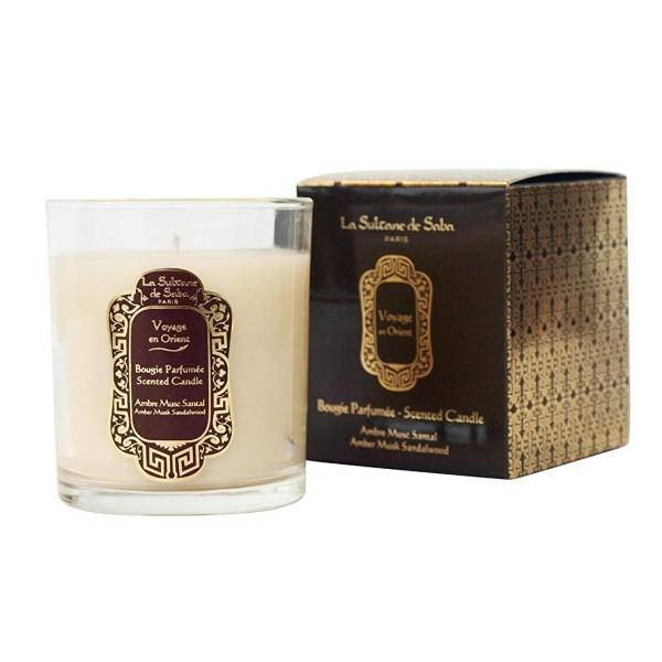 Amber Musk Scented Candle Gintaro ir saltamedžio aromato kvapnioji žvakė, 300g