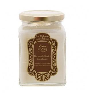 La Sultane de Saba Amber Musk Shea Butter Gintaro ir santalmedžio aromato taukmedžio sviestas, 300g | inbeauty.lt