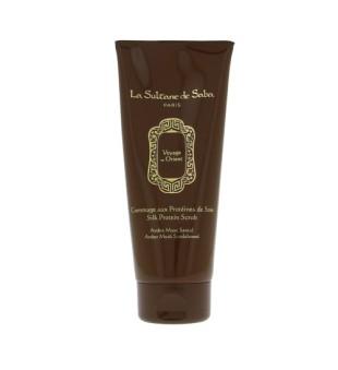 La Sultane de Saba Amber Musk Silk Protein Scrub Kūno šveitiklis su šilko baltymais, 200ml   inbeauty.lt