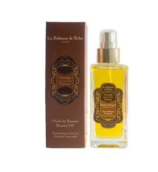 La Sultane de Saba Ayurvedic Beauty Oil Gintaro, vanilės ir pačiulių grožio aliejus, 100ml | inbeauty.lt