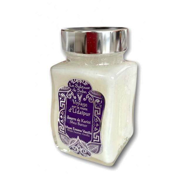Udaipur Shea Butter Muskuso, smilkalų ir vanilės aromato taukmedžio sviestas, 100g