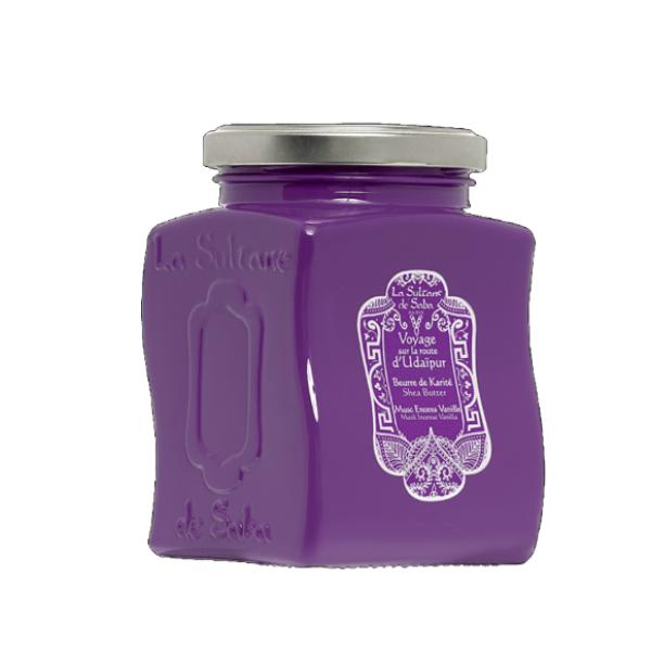 Udaipur Shea Butter Muskuso, smilkalų ir vanilės aromato taukmedžio sviestas, 300g