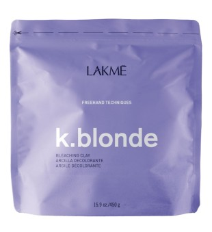 Lakme K.blonde Bleaching Clay Plaukų šviesinimo kremas - molis, 450g | inbeauty.lt