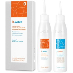 K.WAVE 0 Waving System Cheminio garbanojimo rinkinys nepaklusniems plaukams, 1vnt.