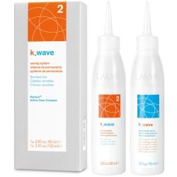 K.WAVE 2 Waving System Cheminio garbanojimo rinkinys labai pažeistiems plaukams, 1vnt.