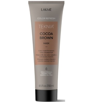 Lakme Teknia Cocoa Brown Mask Kaukė ruda spalva dažytiems plaukams, 250 ml    inbeauty.lt