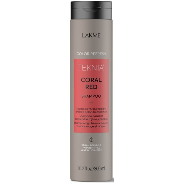 Teknia Coral Red Shampoo Šampūnas raudona spalva dažytiems plaukams, 300 ml