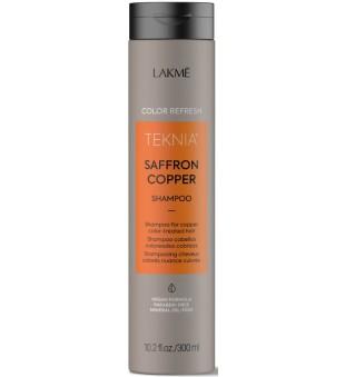 Lakme Teknia Saffron Copper Shampoo Šampūnas vario spalva dažytiems plaukams, 300 ml   inbeauty.lt