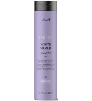 Lakme Teknia White Silver Shampoo Geltonus atspalvius neutralizuojantis šampūnas, 300ml | inbeauty.lt