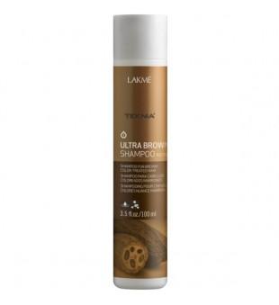 Lakme Teknia Ultra Brown Shampoo Šampūnas ruda spalva dažytiems plaukams, 100 ml | inbeauty.lt