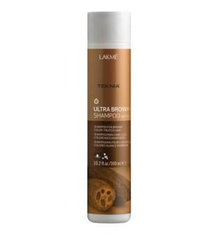 Lakme Teknia Ultra Brown Shampoo Šampūnas ruda spalva dažytiems plaukams, 300 ml | inbeauty.lt