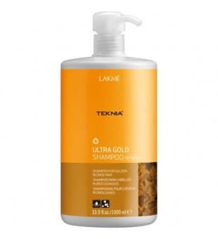 Lakme Teknia Ultra Gold Shampoo Šampūnas aukso spalvos plaukams, 1000 ml   | inbeauty.lt