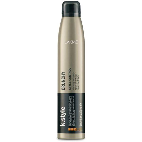 K.style Crunchy Style Control Working Hairspray Stiprios,laksčios fiksacijos plaukų lakas, 300 ml