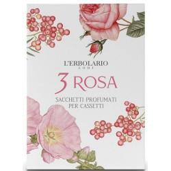 3 Rosa Rožių aromato kvapnus vokas, 1 vnt.