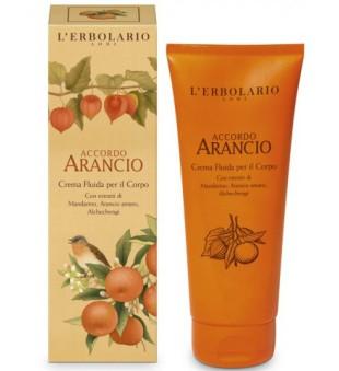 L'Erbolario Accordo Arancio Citrusinių vaisių aromato kūno kremas, 200 ml | inbeauty.lt