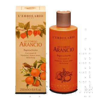 L'Erbolario Accordo Arancio Citrusinių vaisių aromato vonios putos, 250 ml | inbeauty.lt