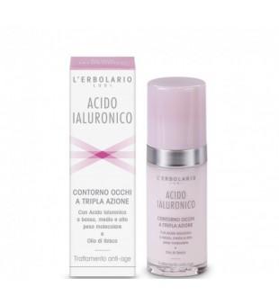L'Erbolario Acido Ialuronico Under Eye Cream Paakių kremas su hialuronu, 30ml | inbeauty.lt