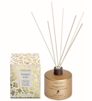 L'Erbolario Golden Bouquet Fragrance for Scented Wood Sticks Namų kvapas, 200ml | inbeauty.lt