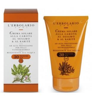 L'Erbolario Crema Solare alla Carota Apsauginis kremas nuo saulės, 125 ml | inbeauty.lt