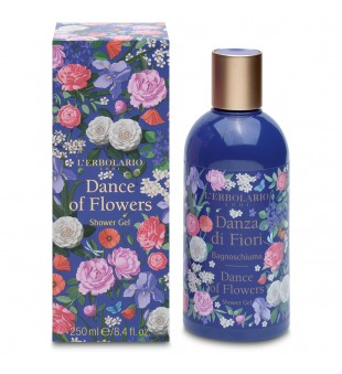 L'Erbolario Dance of Flowers Shower Gel Gėlių aromato dušo gelis, 250ml | inbeauty.lt