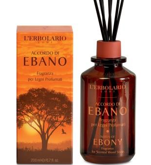 L'Erbolario Ebony Fragrance for Scented Wood Sticks Namų kvapas, 200ml   inbeauty.lt