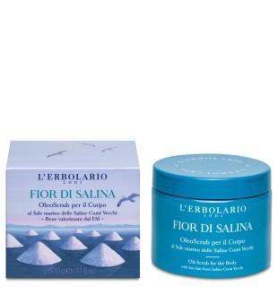 L'Erbolario Fior di Salina Kūno šveitiklis su jūros druska, 200 ml | inbeauty.lt