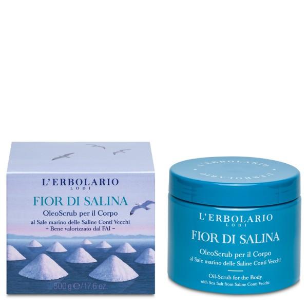 Fior di Salina Kūno šveitiklis su jūros druska, 200 ml