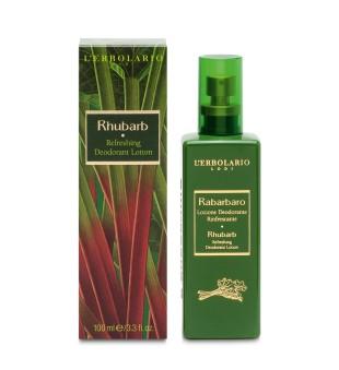 L'Erbolario Rhubarb Refreshing Deodorant Lotion Dezodorantas su rabarbaro ekstraktu, 100ml   inbeauty.lt